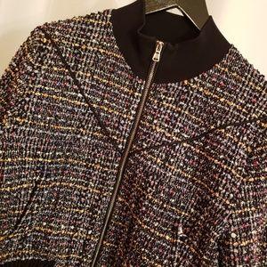 3.1 Phillip Lim Jackets & Coats - Phillip Lim Multi-color tweed bomber jacket sz 2